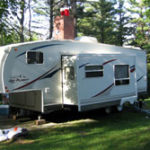 We offer six, 40 foot campers for rent. All have a full kitchen, television, fire ring and picnic table.