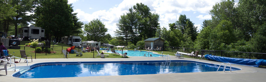 Campground & RV Park with 2 swimming pools.